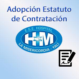 Adopción Estatuto de Contratación.