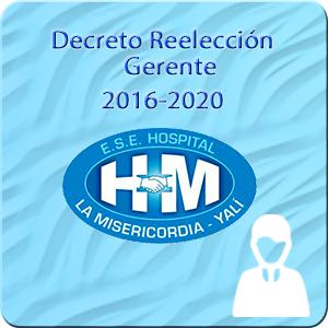 Decreto de reelección del gerente para el periodo 2016-2020