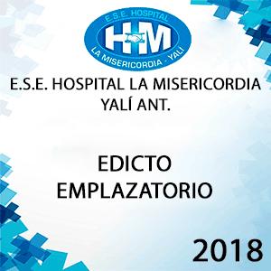 Edicto Emplazatorio - Proyecto de Historias Laborales.