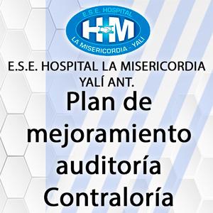 Plan de mejoramiento auditoría Contraloría Auditoría 2017